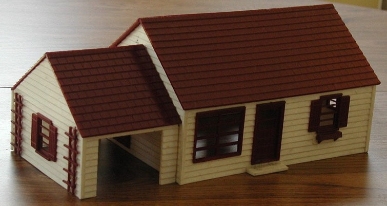 Skyline Westchester plastic house kit front view 1
