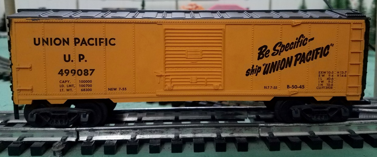 Union Pacific boxcar