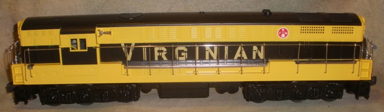 Virginian black and yellow FM Trainmaster