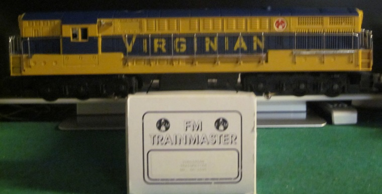 Virginian blue and yellow FM Trainmaster