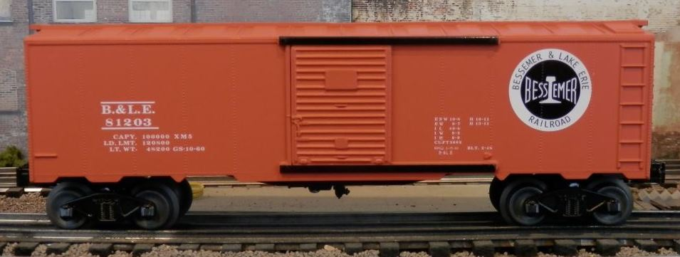 Williams Bessemer and Lake Erie boxcar