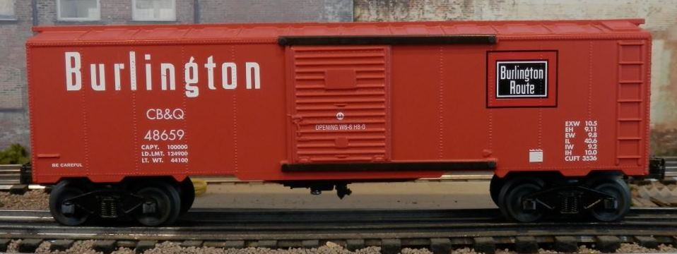 Williams Chicago, Burlington and Quincy boxcar