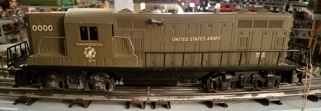 Lionel Postwar 0000 U.S. Army Transportation Corps GP7 production sample