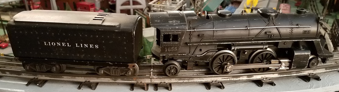 Lionel Postwar 1655 2-4-2 steam locomotive