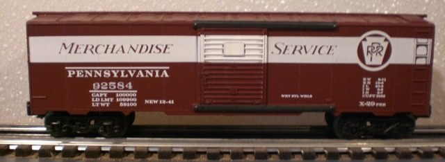 Frank's Roundhouse Pennsylvania boxcar - long stripe version