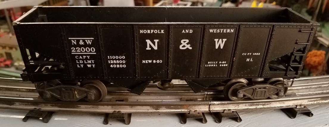 Lionel Postwar 3456 Norfolk and Western hopper