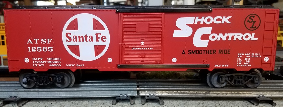 Frank's Roundhouse Santa Fe Shock Control boxcar
