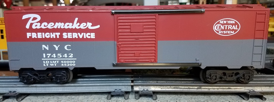 Frank's Roundhouse New York Central boxcar with solid red doors
