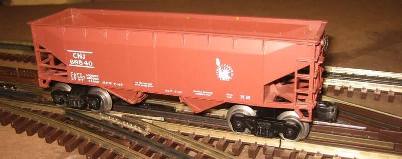 Frank's Roundhouse CNJ freight car red hopper