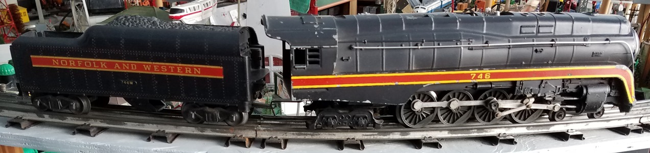 Lionel Postwar 746 Norfolk and Western 4-8-4 J steam locomotive