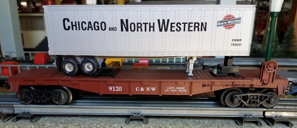 Frank's Roundhouse Chicago and North Western TOFC