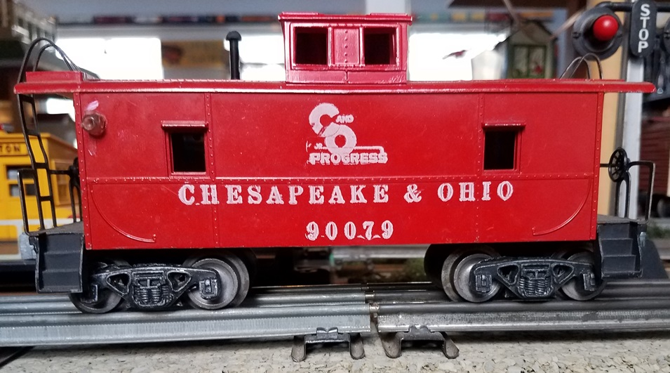 AMT Chesapeake and Ohio caboose with black steps