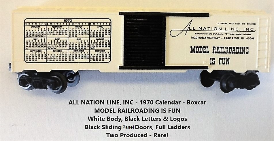 Kris All Nation Line calendar boxcar with black doors
