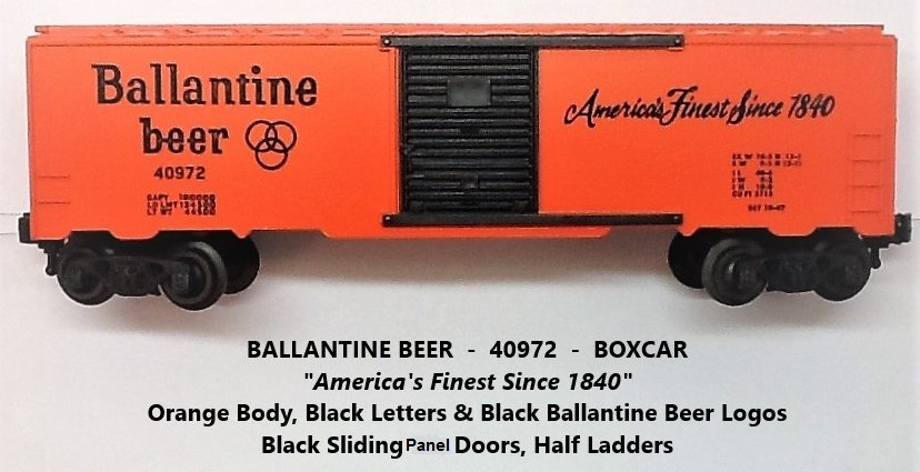 Kris Ballantine beer boxcar with black panel doors