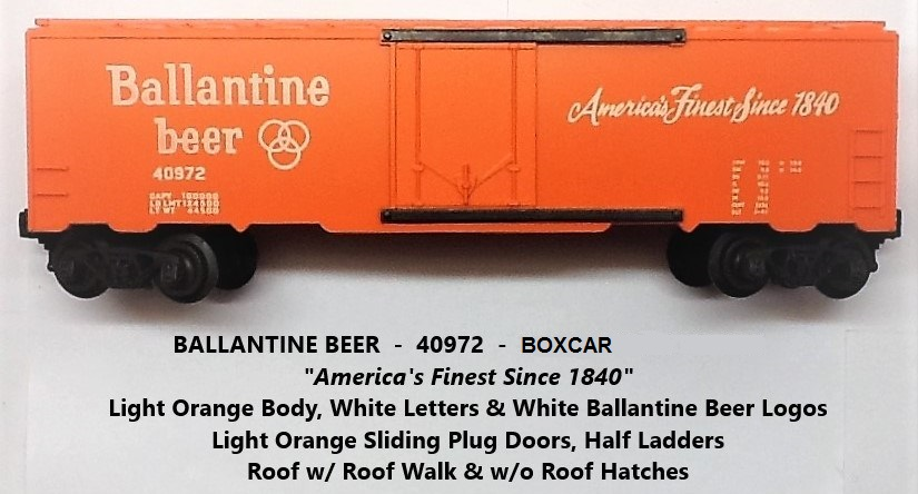 Kris Ballantine beer boxcar with orange plug doors