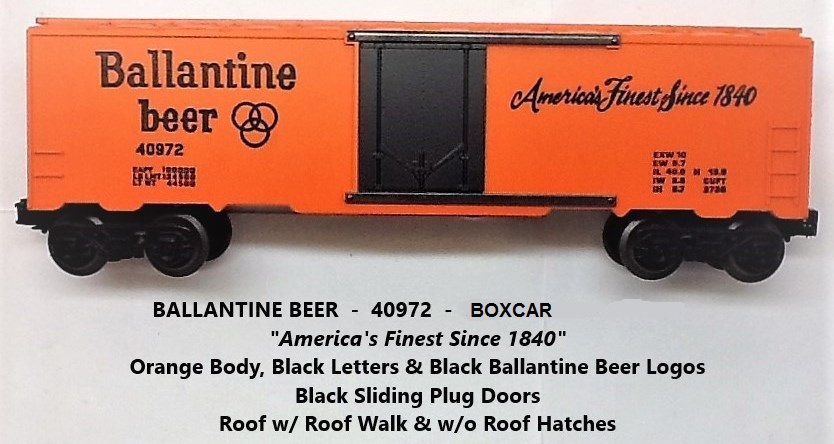 Kris Ballantine beer boxcar with black plug doors