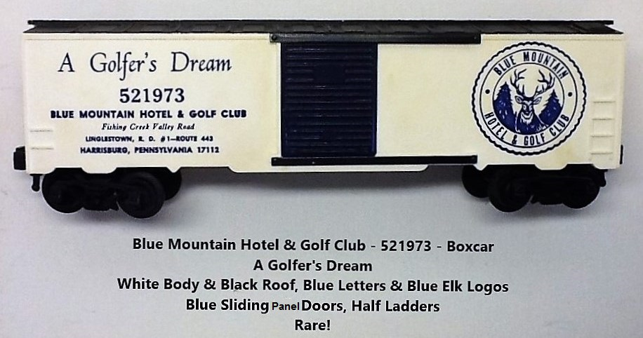 Kris Blue Mountain Hotel and Golf Club white and black boxcar