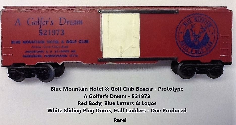 Kris Blue Mountain Hotel and Golf Club prototype boxcar