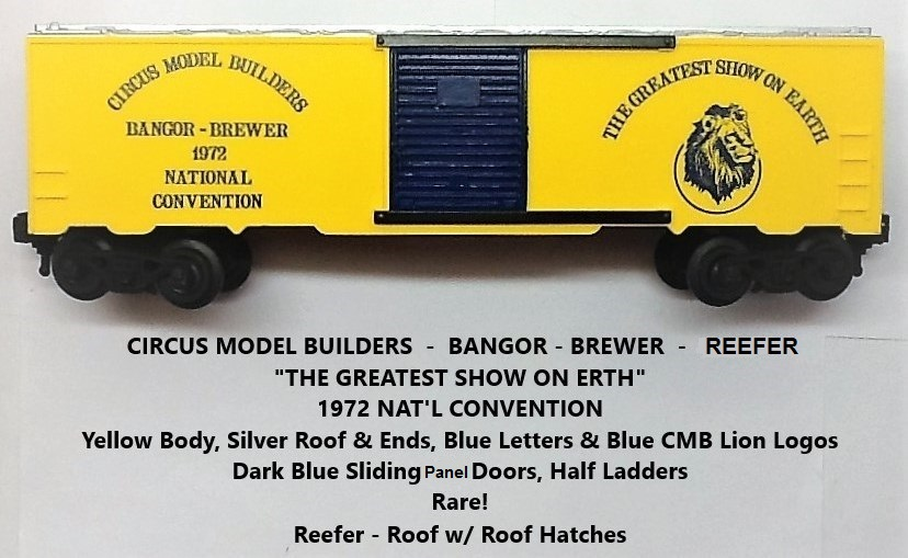 Kris Circus Model Builders yellow and silver refrigerator car