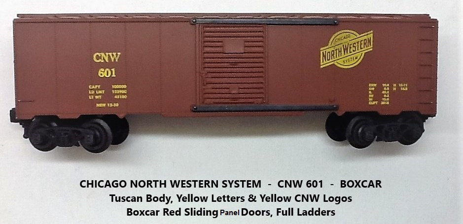 Kris Chicago and North Western 601 tuscan boxcar