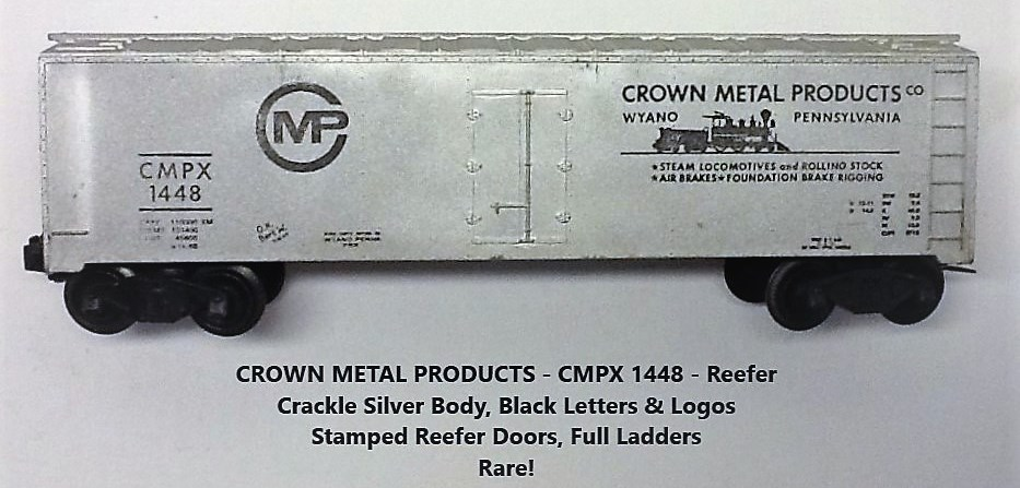 Kris Crown Metal Products 1448 crackle silver refrigerator car
