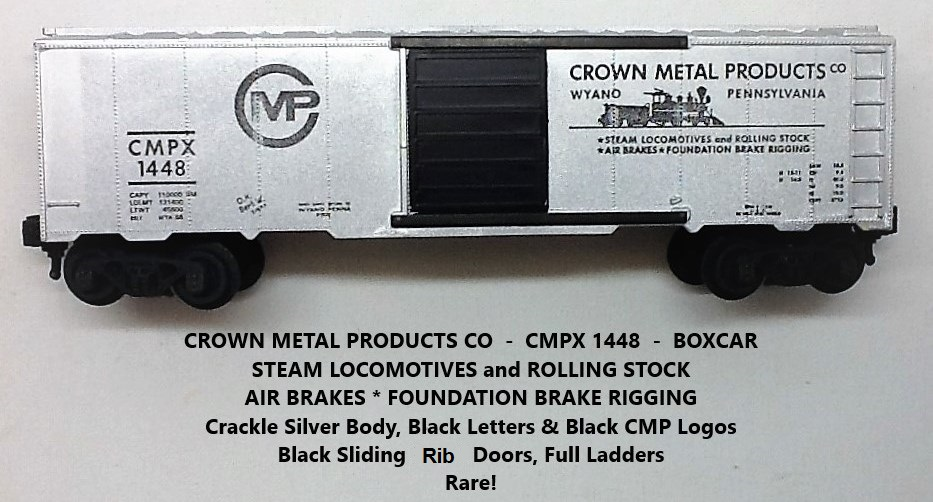 Kris Crown Metal Products 1448 silver boxcar