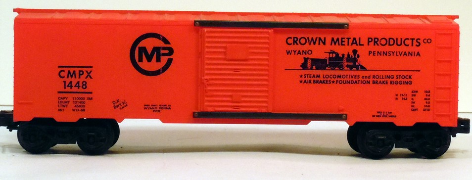 Kris Crown Metal Products 1448 orange boxcar