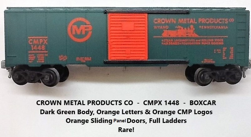 Kris Crown Metal Products 1448 green boxcar