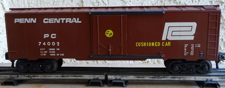 Penn Central 74002 boxcar with extra markings - side 1