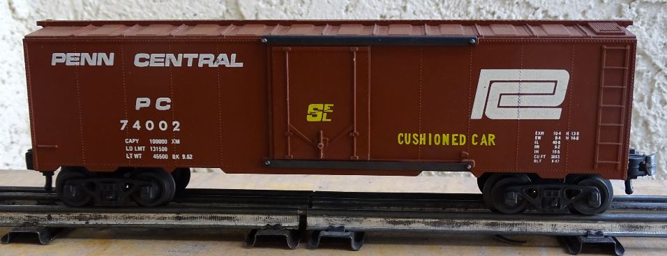 Penn Central 74002 boxcar with extra markings - side 2