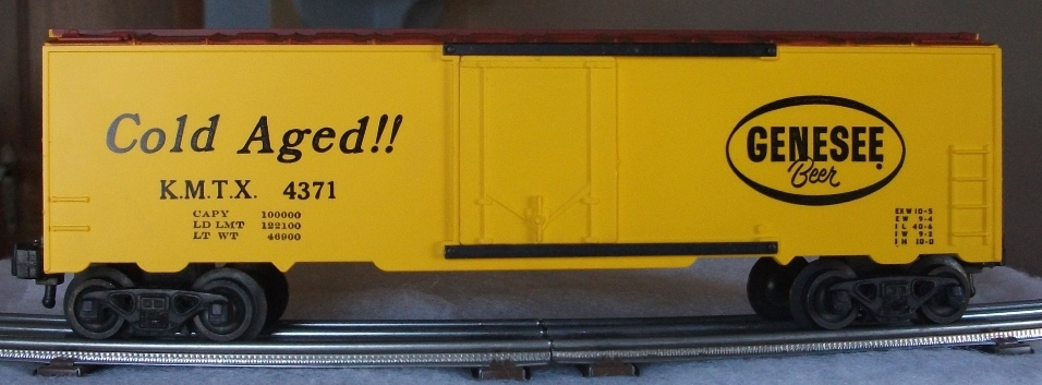 Kris Genesee Beer 4371 refrigerator car with black lettering