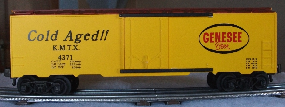 Kris Genesee Beer 4371 refrigerator car with black and red lettering