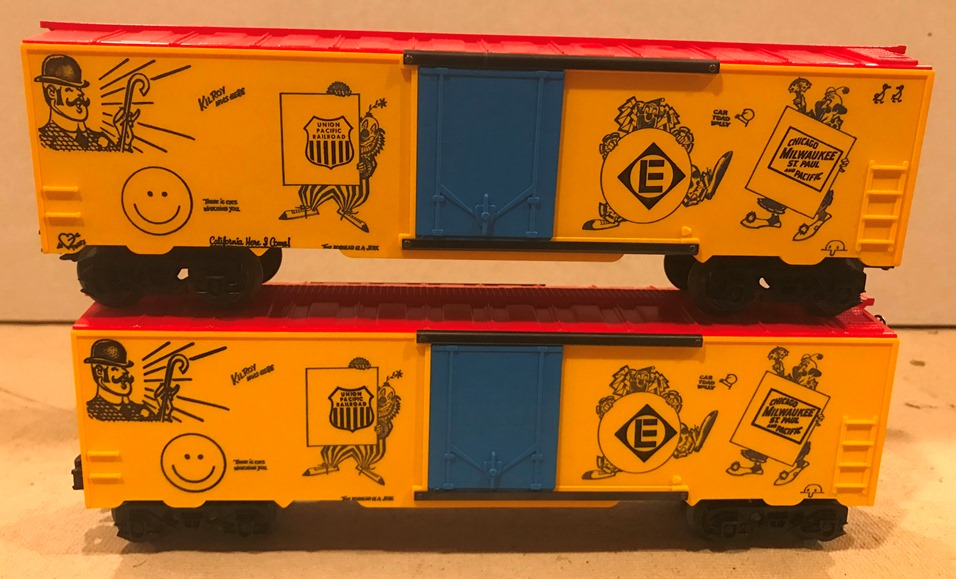 Kris yellow and red boxcar comparison