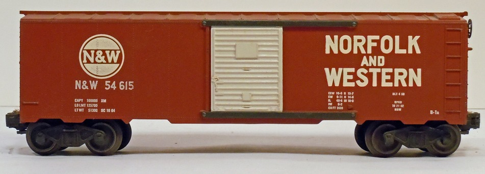 Kris Norfolk and Western 54615 boxcar with white doors