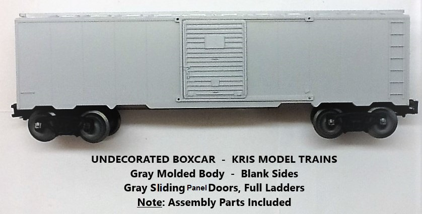 Kris undecorated gray boxcar