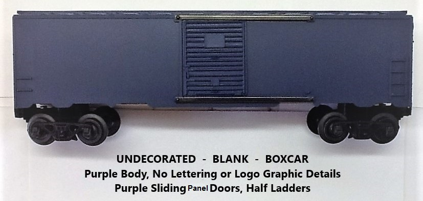 Kris undecorated purple boxcar