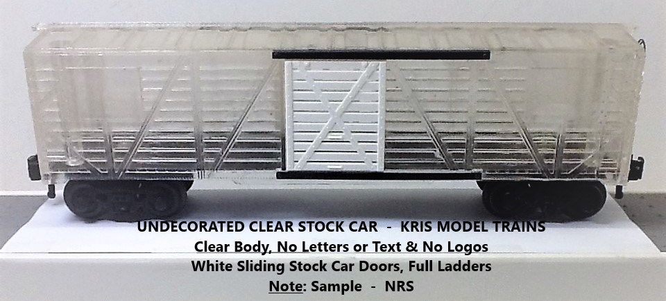 Kris undecorated clear stock car