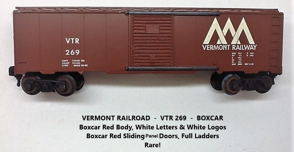 Kris Vermont Railway 269 boxcar with boxcar red doors