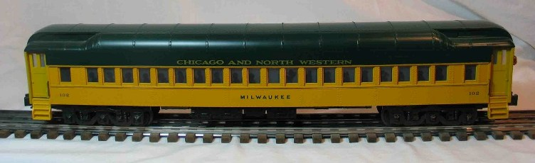 Chicago and North Western 102 coach car