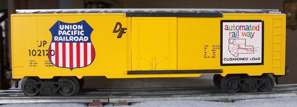 Kris Union Pacific 102170 misstamped yellow and silver boxcar