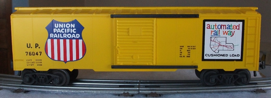 Kris Union Pacific 76047 yellow boxcar with yellow panel doors