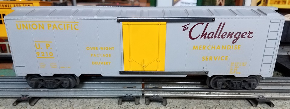 Kris Union Pacific 9210 boxcar with plug doors and yellow and maroon lettering