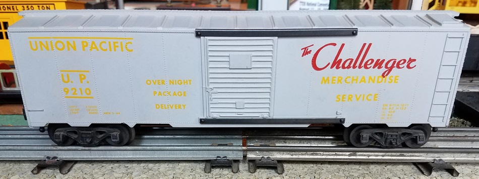 Kris Union Pacific 9210 boxcar with panel doors and yellow and red lettering