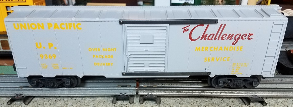 Kris Union Pacific 9369 glossy gray boxcar