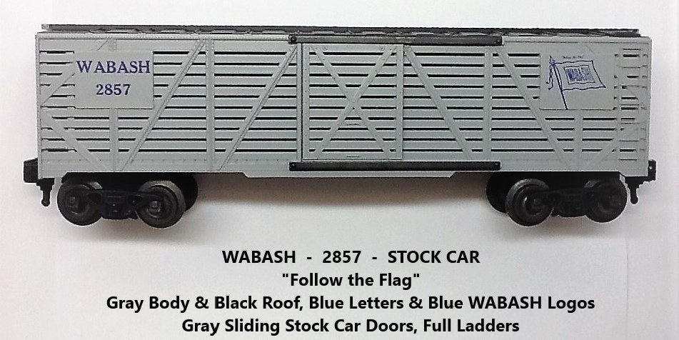 Kris Wabash 2857 gray and black stock car